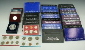 LOT OF 41 U.S. PROOF SETS CIRCA 1980