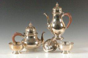 4 PC. BIRMINGHAM STERLING SILVER COFFEE & TEA SET