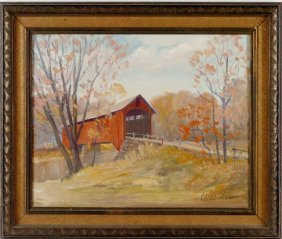 FRANCIS CLARK BROWN (1908 - 1992) BROWN COUNTY INDIANA