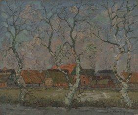 HANS HENTSCHKE (1889-1969) OIL ON CANVAS 1937