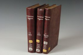 Three Bound Volumes Of Architectural Magazine, 1834-183