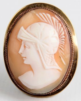 An Antique Classical Theme Carved Shell Cameo