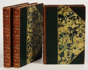 Seven Leather Bound Volumes; Knapp, Field & Brown
