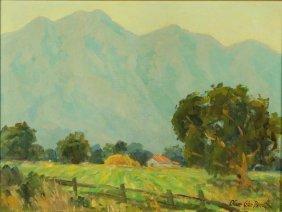 Oliver Glen Barrett (1903-1970) California Oil On