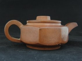A Zisha Teapot With Lid