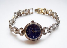 925 Solid Sterling, Geneve Quartz Vintage Wristwatch