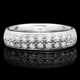 18k White Gold 0.75ct Diamond Ring This Magnificen