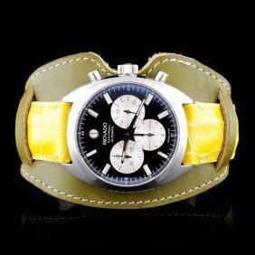 Movado Datron Ss Chrono Wristwatch