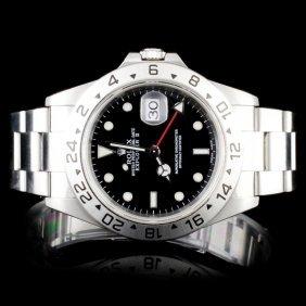 Rolex Ss Explorer Ii Mens 40mm Wristwatch