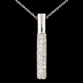 14k Gold 0.88ctw Diamond Pendant