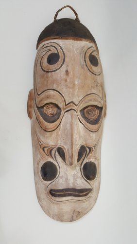 A New Guinea Large Wooden Gable Mask