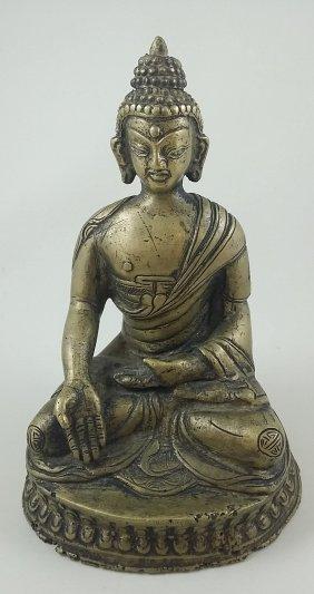 A Bronze Statue Of Buddha Shakyamuni