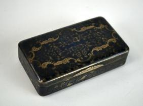 Russian Silver Gold Niello Box