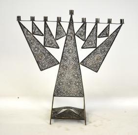 Judaic Silver Menorah