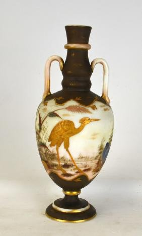 French Cameo Art Glass Vase