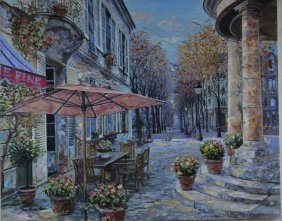"Vadik Suljakov ""Le Boulevarcanv"" Giclee On Canvas"