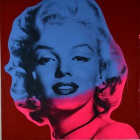 "Steve Kaufman ""Marilyn Monroe Red"" Silkscreen"