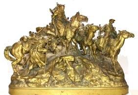 "Russian Bronze Sculpture Â""the Crossing Of The Balkans"""