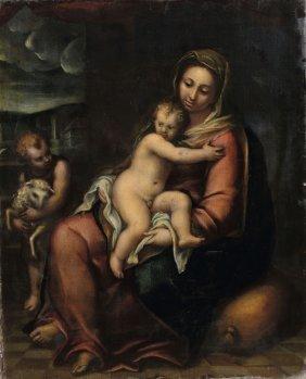 Pier Francesco Piola (genova ? - 1600), Madonna Con
