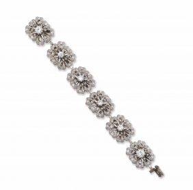 A Diamond And Platinum Bracelet