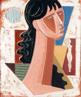 Mario Tozzi (1895-1979), Ragazza Verso L'orizzonte,