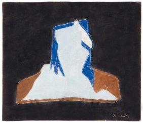 Lucio Fontana (1899-1968), Tavoletta Graffita (madonna)