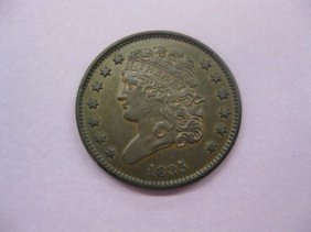 1835 U.S. Half Cent, Classic Head, Extra Fine