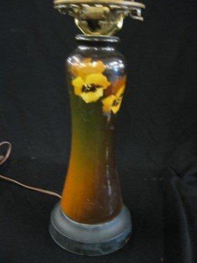 Louwelsa Style Art Pottery Lamp,
