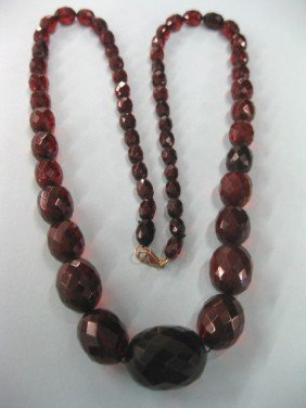 Victorian Cherry Amber Necklace,