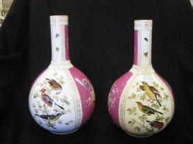 Pair Of Meissen Porcelain Vases, Handpainted Alter