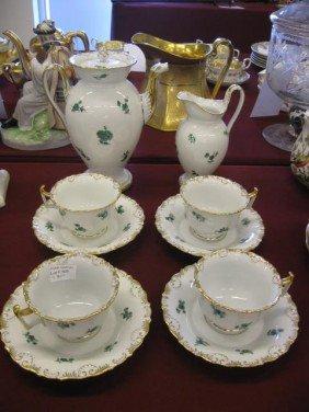 """Meissen Porcelain Coffee Service, Includes 9"""" Pot,"""