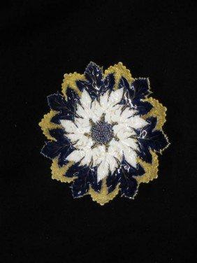 Meissen Porcelain Figural Floraform Dish, Elaborat