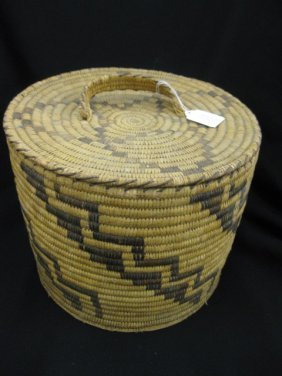 Indian Covered Basket,