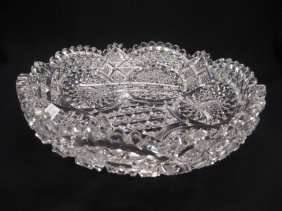 Brilliant Period Cut Glass Low Bowl,