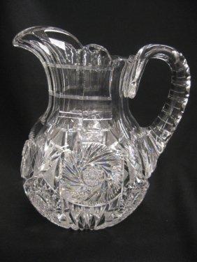 Brilliant Period Cut Glass Pitcher,