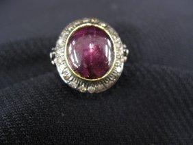 Star Ruby & Diamond Ring,