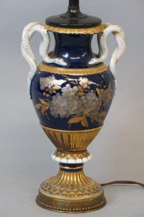 Meissen Porcelain Table Lamp,