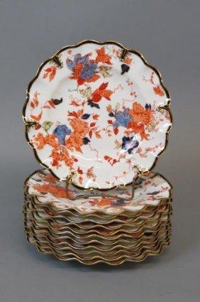 12 Royal Crown Derby Porcelain Plates,