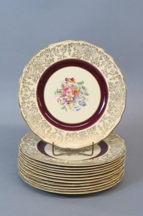 12 Johnson Brothers China Dinner Plates,
