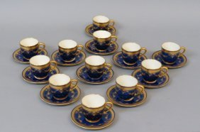 12 Lenox Porcelain Cups And Saucers,