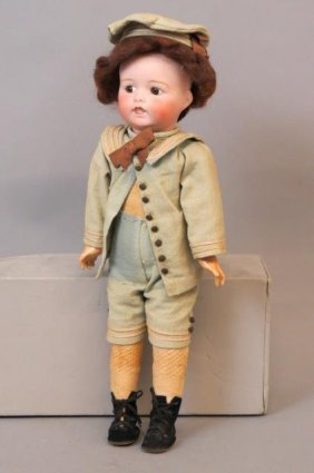 Victorian Bisque Head Character Type Doll,