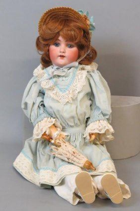 "B.j. & Co. Bisque Head Doll ""my Sweetheart"","