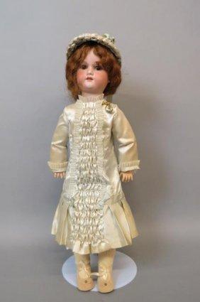 G.b. Bisque Head Doll,