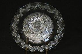 Libbey Cut Glass Shallow Bowl,