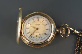 Elgin Ladies Pendant Watch And Chain,