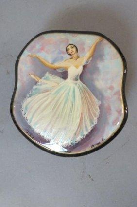 Russian Lacquerware Box With Ballerina,