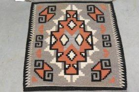 Navajo Indian Saddle Blanket,