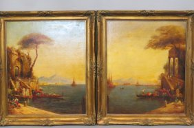 Pair Of Venetian Oil Paintings,