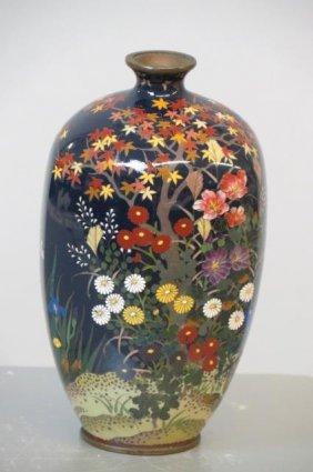 Japanese Cloisonne Vase,