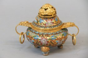 Chinese Cloisonne Censor,